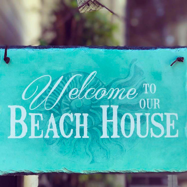 Handmade and Customizable Slate Home Sign - Welcome To Our Beach House - Sassy Squirrel Ink