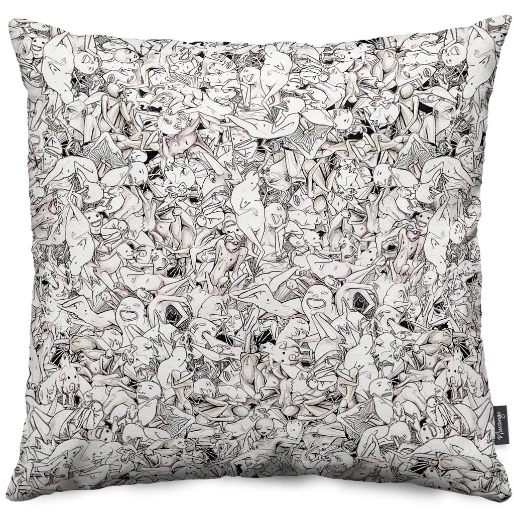 Rouge Cuddle Puddle Throw Pillow