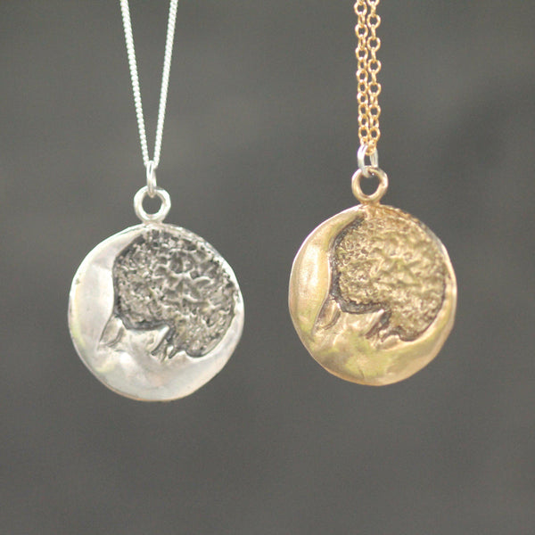 Constant Friend Pendant <li> Silver & Yellow Bronze