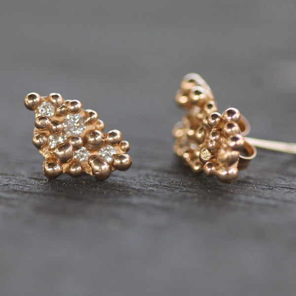Barnicle Diamond Studs-Earrings-Emma Glover Designs