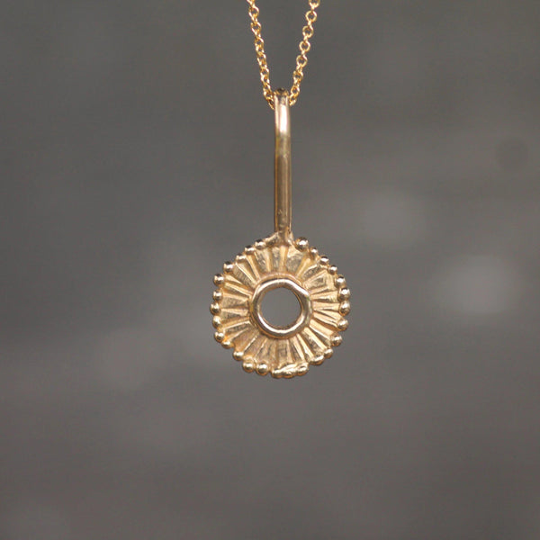 Full Sun Pendant <li> Silver & Yellow Bronze