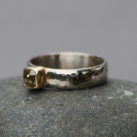 Raw Sunshine Engagement Ring