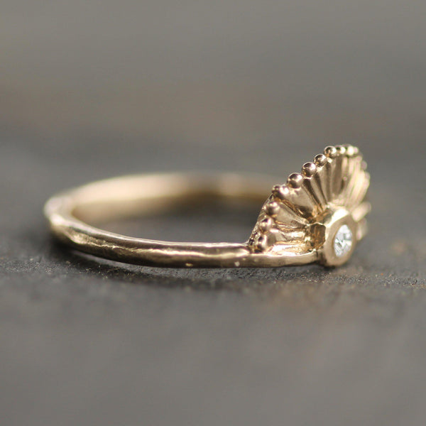 Little Sunrise Diamond Ring