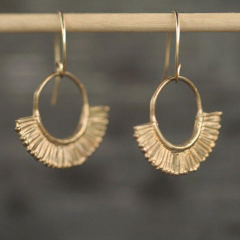 Chasing Sunsets Earrings <li> Silver & Yellow Bronze