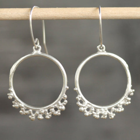 Russell Reef Hoop Earrings <li> Silver
