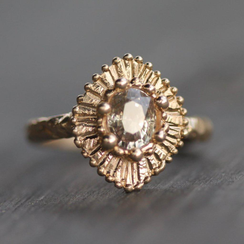 Golden Glow Engagement Ring
