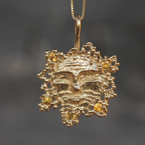 Golden Sun Pendant-Necklace-Emma Glover Designs