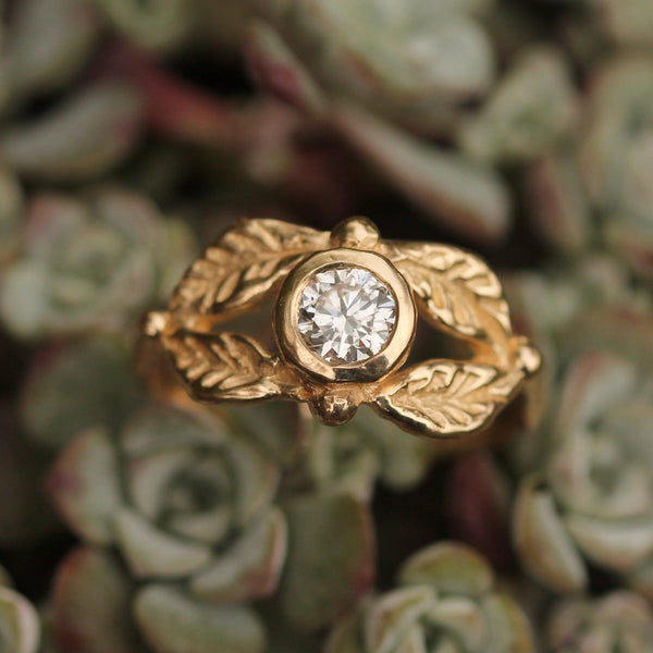 Custom - 14k Yellow Gold with Diamond