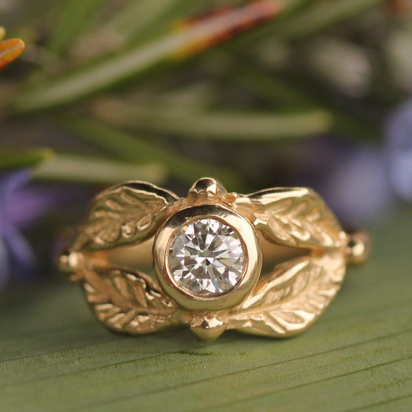 Custom - 14k Yellow Gold with Diamond--Emma Glover Designs