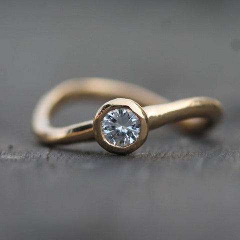 Warm Wave Engagement Ring
