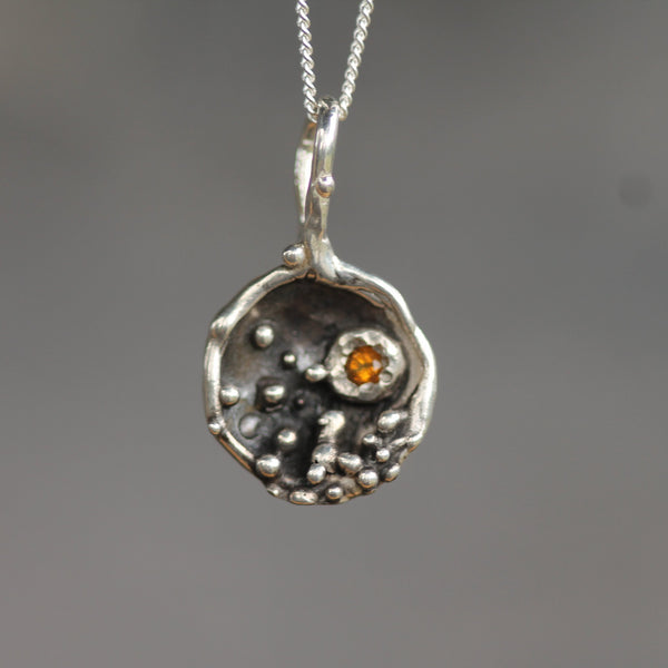 Night Sky Pendant <li> Silver & Yellow Bronze