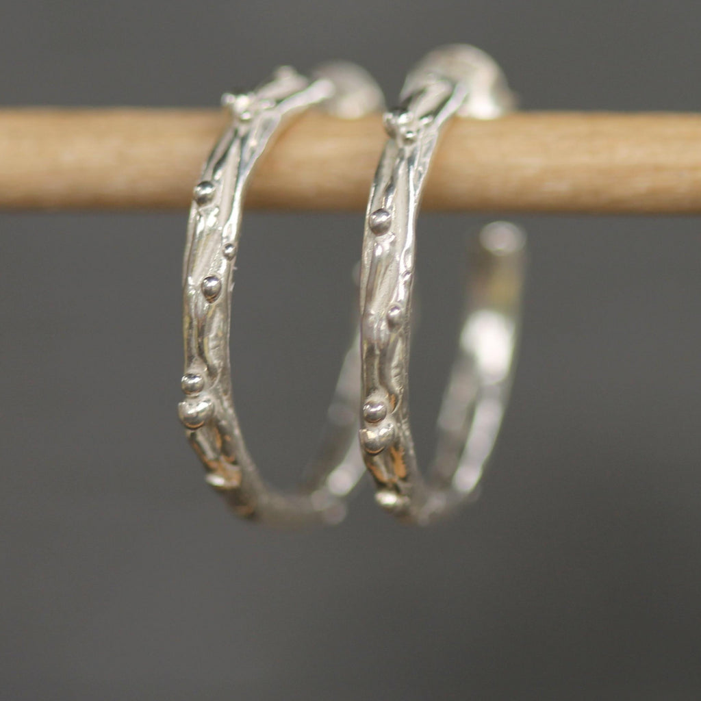 Mermaid Hoops <li> Silver & Yellow Bronze