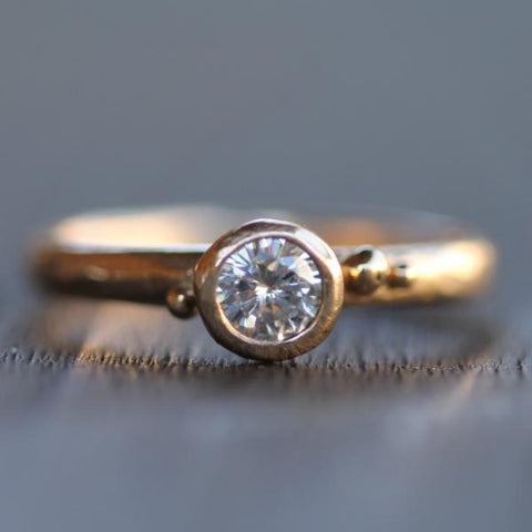 Diamond Coastal Droplet Engagement Ring