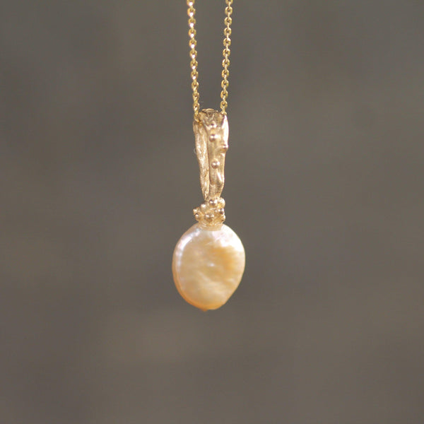 Waxing Moon Pearl Pendant-Necklace-Emma Glover Designs