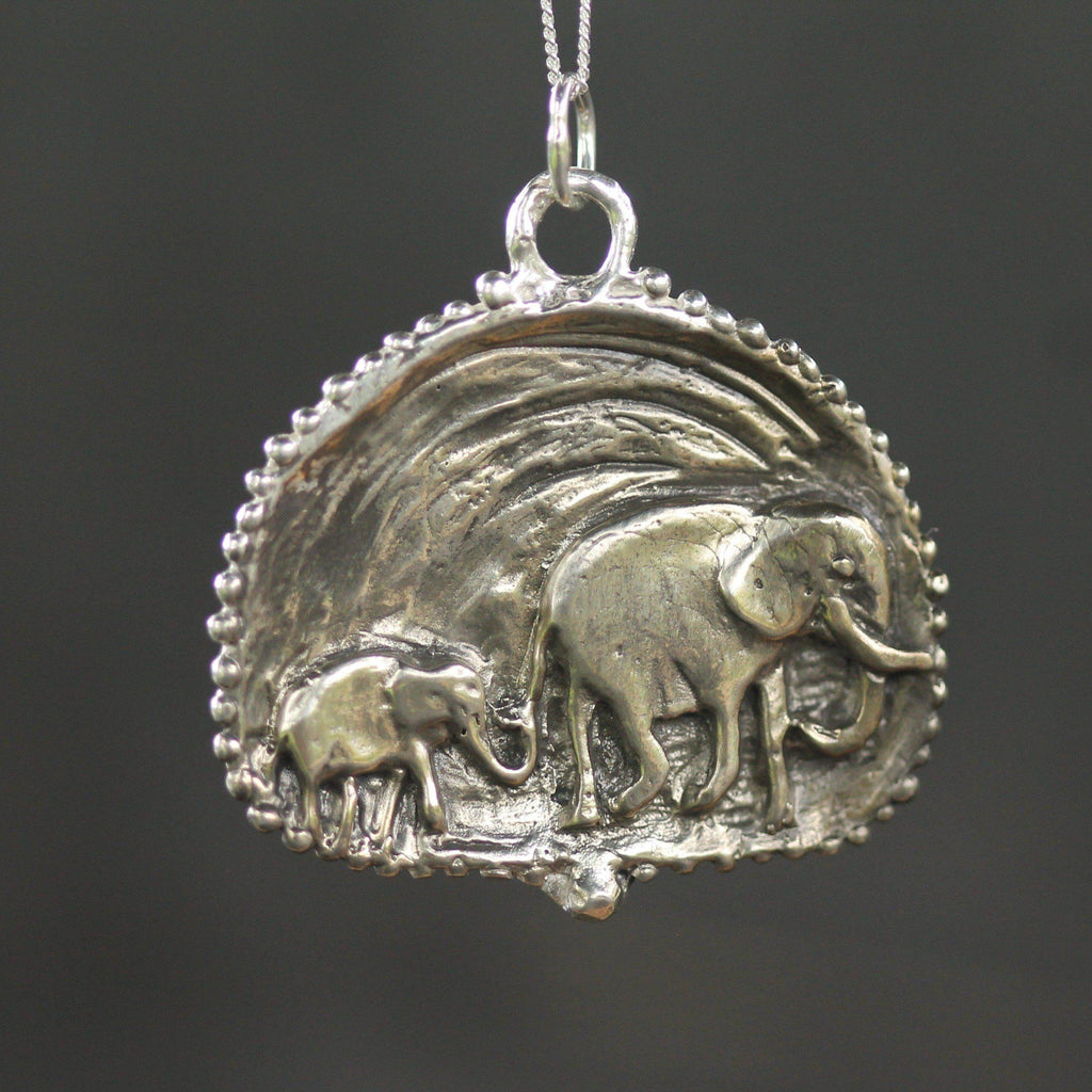 Follow the Leader Elephant Pendant-Necklace-Sterling Silver-Emma Glover Designs