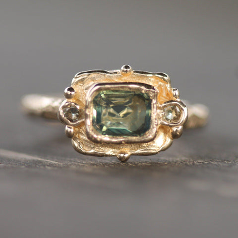Island Baroque Green Sapphire Ring