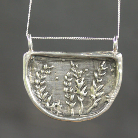 Lupin Pendant-Necklace-Sterling Silver-Emma Glover Designs