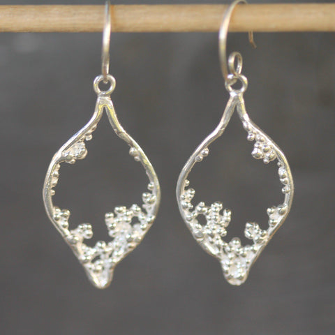 Bamfield Mermaid Earrings <li> Silver