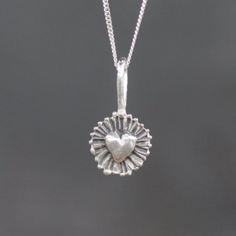 Shining Heart Pendant-Necklace-Sterling Silver-Emma Glover Designs