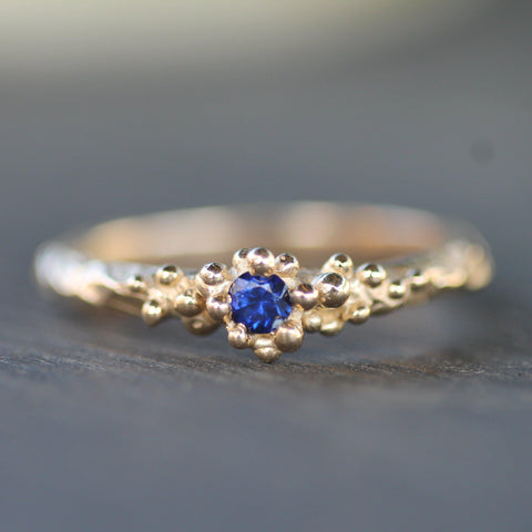 Blue Tidal Pool Treasure Ring