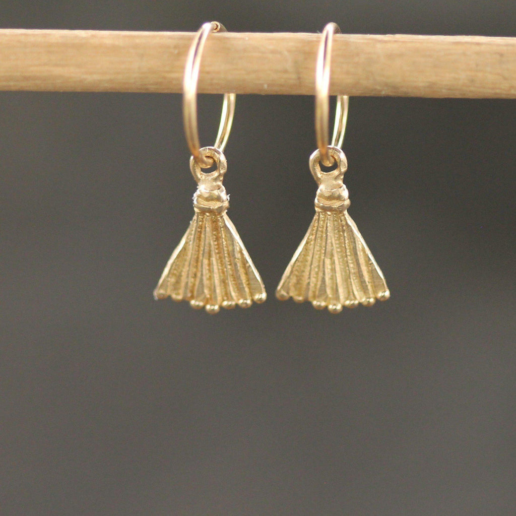 Lina Sleepers-Earrings-Yellow Bronze-Emma Glover Designs