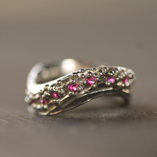 Ruby Wave Ring