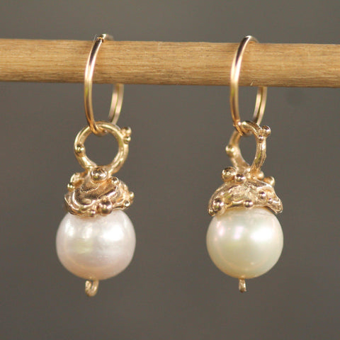 Pearl Sleepers-Earrings-Emma Glover Designs