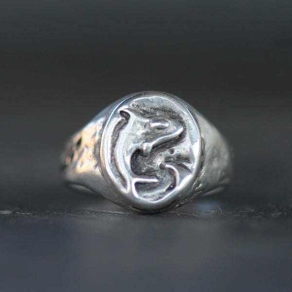 Orca Sterling Silver Signet Ring-5.5-Emma Glover Designs
