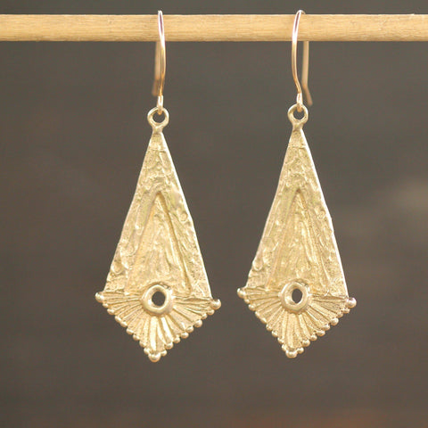 Athena Earrings-Earrings-Yellow Bronze-Emma Glover Designs