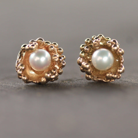 Lana Pearl Studs-Earrings-Emma Glover Designs