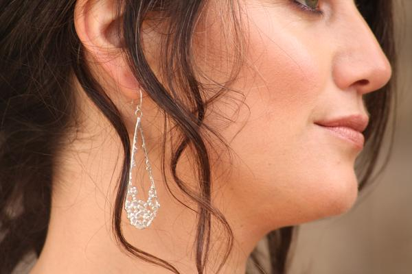 Water Droplet Earrings-earrings-Sterling Silver-Emma Glover Designs