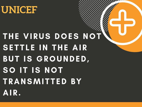 Virus does not settle in the air