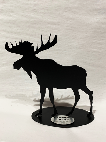 Canadian Corporate Gifts - Canadian Metal Art with Engraved Plate