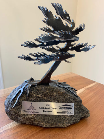 Canadian Windswept Pine Sculpture with Engraved Corporate Plaque