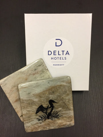 Corporate Gift Canadian Stone Coasters and Personalized Presentation Box