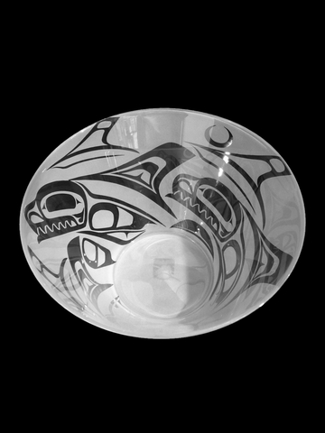 Canadian Haida Glass Orca Bowl