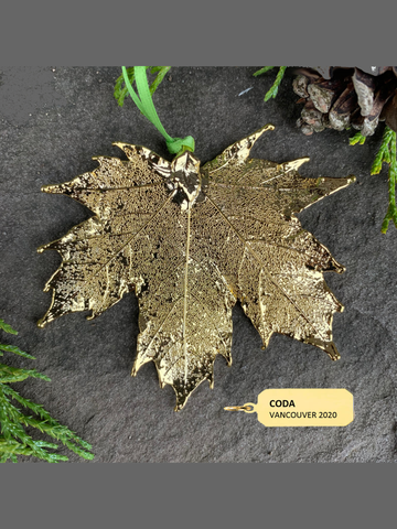 Canadian Gold Maple Leaf with Custom Gold Tag