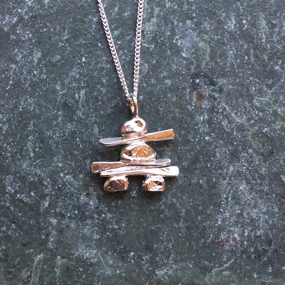 Large Inukshuk Necklace
