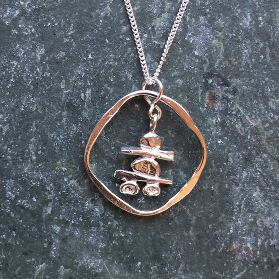 Encircled Inukshuk Necklace