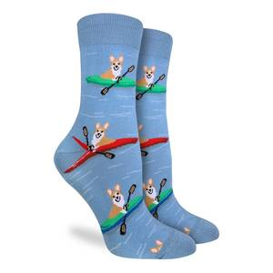 Women's Corgi Kayaking Crew Socks