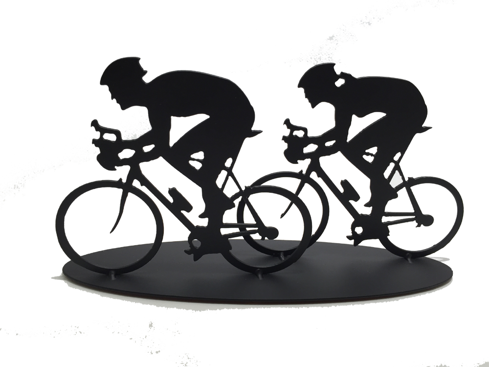 Cyclist - Couple - Metal Art - Made In Canada Gifts