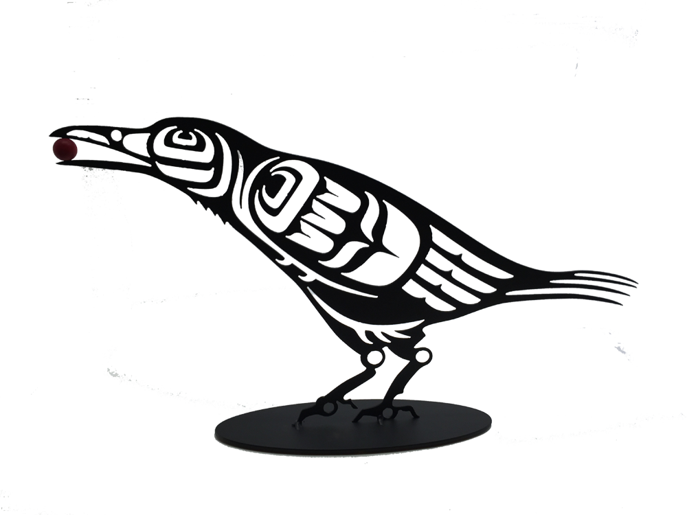 First Nations Crow - Metal Art - Made In Canada Gifts