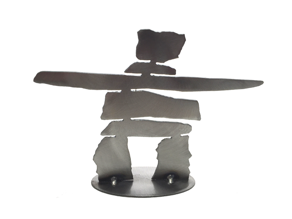 Inukshuks - Metal Art - Made In Canada Gifts