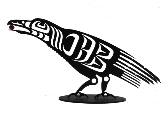 First Nations Raven - Metal Art - Made In Canada Gifts
