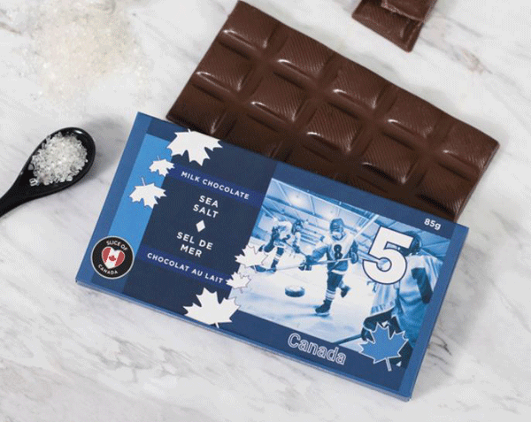 Sea Salt Milk Chocolate Canadian $5.00 Bill