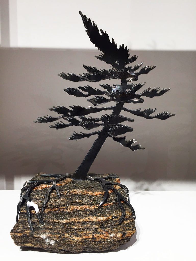 Windswept Pine Sculpture - Medium