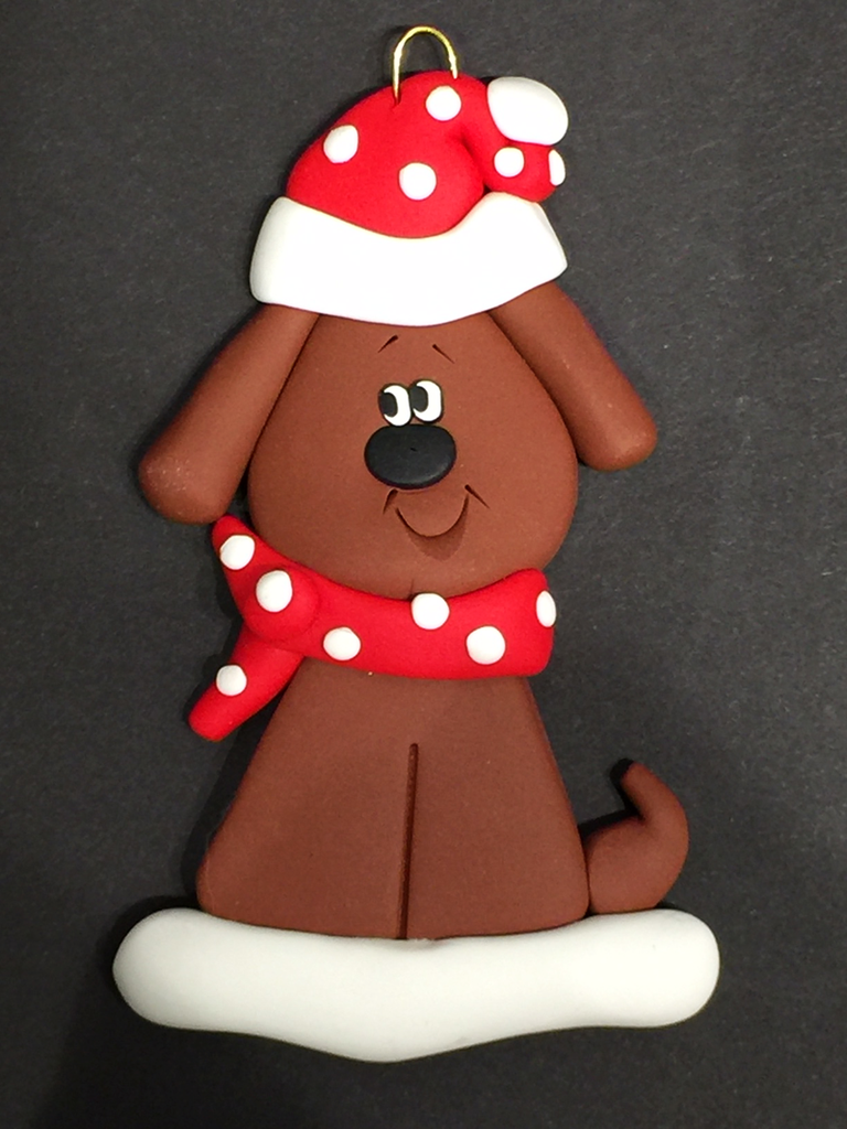 Brown Dog Ornament