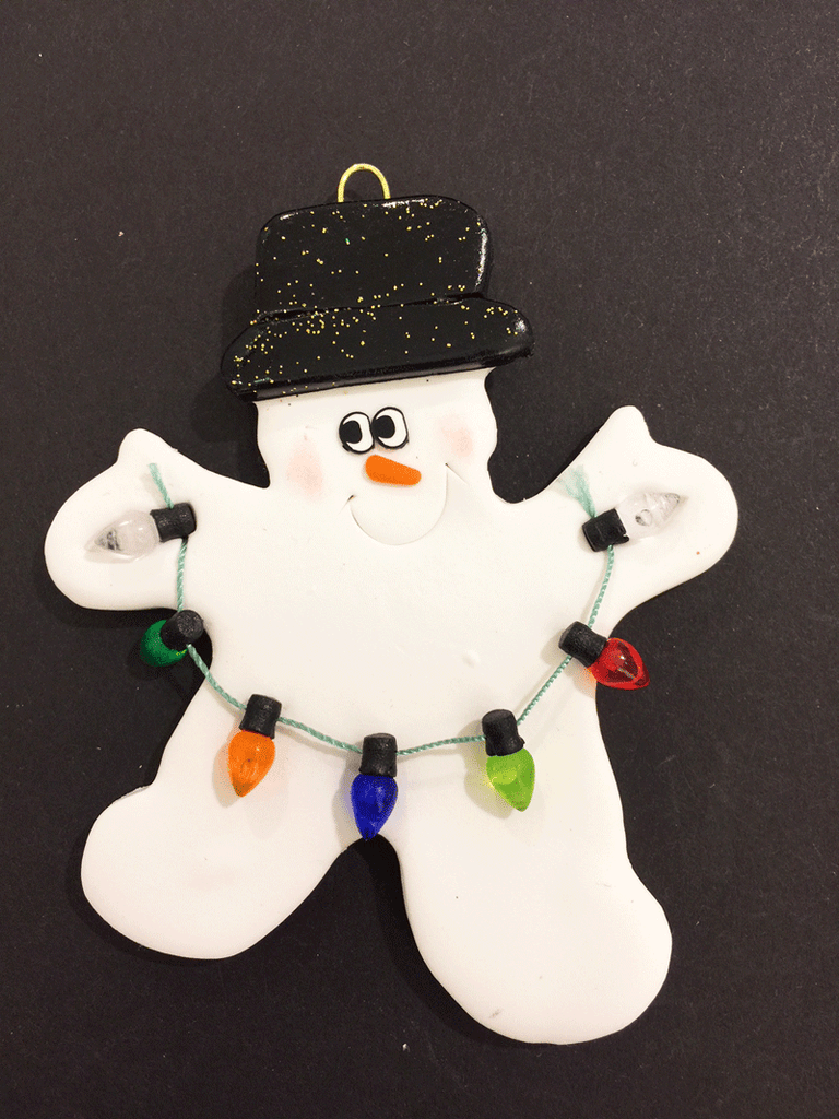 Snowman with Lights Ornament