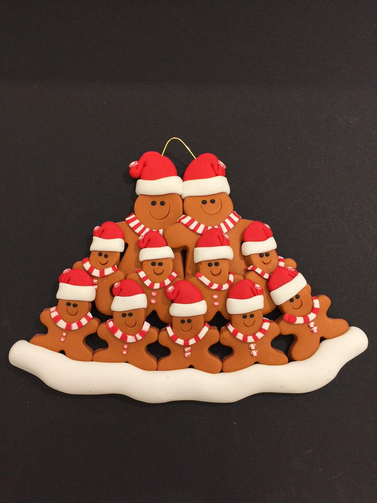 Ginger Bread Family of 11 Ornament