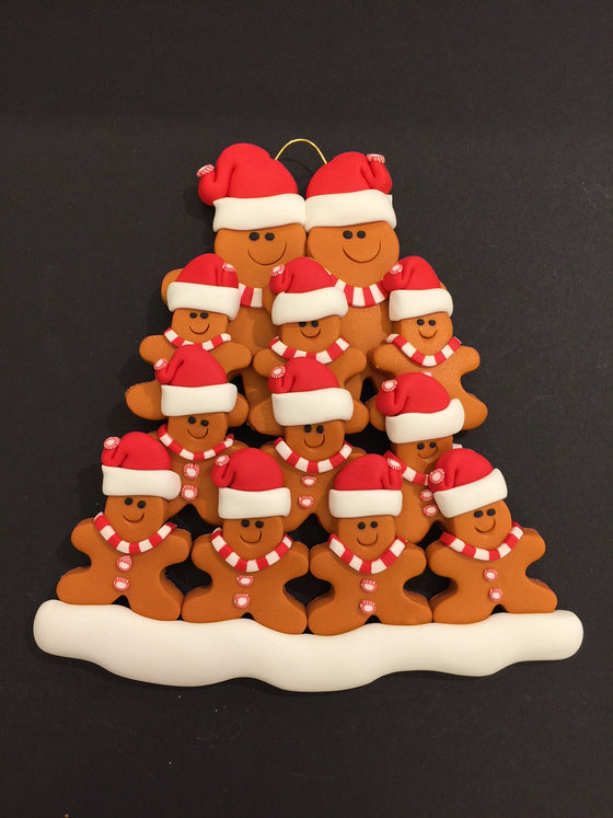 Ginger Bread Family of 12 Ornament